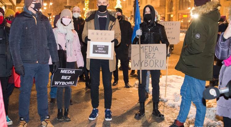 Solidarnie z mediami - protest w Łodzi