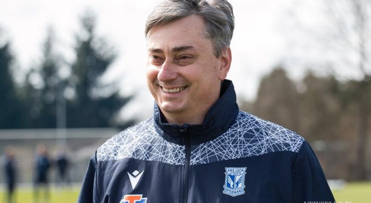 Maciej Skorża na pierwszym treningu Lecha Poznań