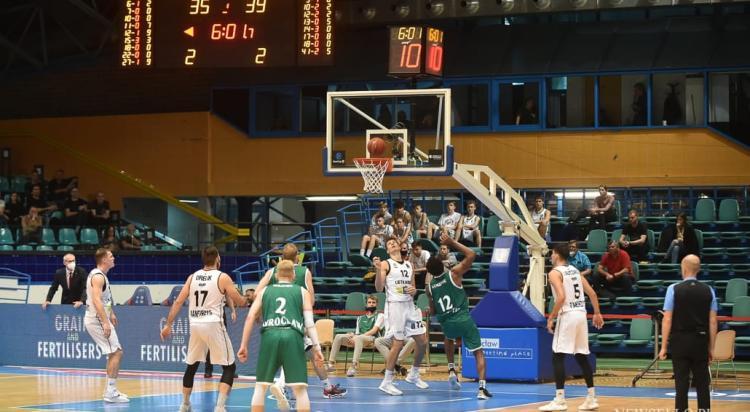 WKS Śląsk Wrocław - BC Lietkabelis Poniewież (Litwa) 59:70