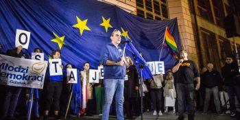 My zostajemy w Europie - demonstracja w Gdańsku