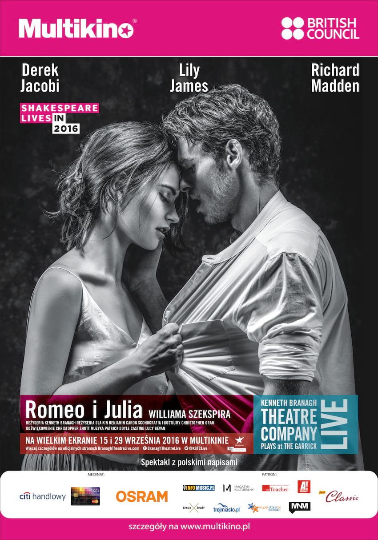 """""""Romeo i Julia"""" z Kenneth Branagh Theatre Company"""