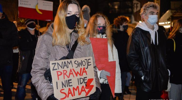 Strajk Kobiet 2021: Czas próby - manifestacja w Łodzi