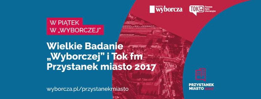 """""""Przystanek Miasto 2017"""" – rusza projekt """"Gazety Wyborczej"""" i Radia TOK FM"""