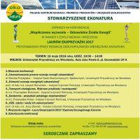 Laury Ekoprzyjaźni i konferencja o odnawialnych źródłach energii