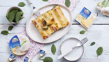 Przepis na cannelloni ze szpinakiem i kremowym serem [fot. Quality Public Relations / Hochland]