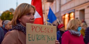 My zostajemy w Europie - demonstracja w Lublinie