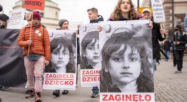 Stop torturom na granicy - manifestacja w Warszawie
