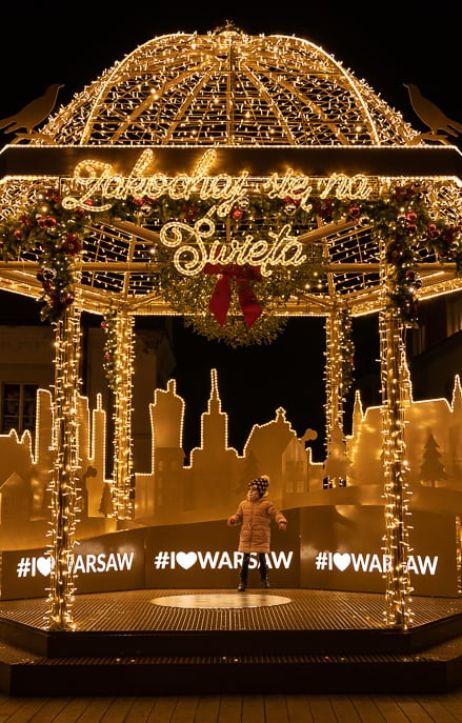 Warszawa: Iluminacje świąteczne w Warszawie