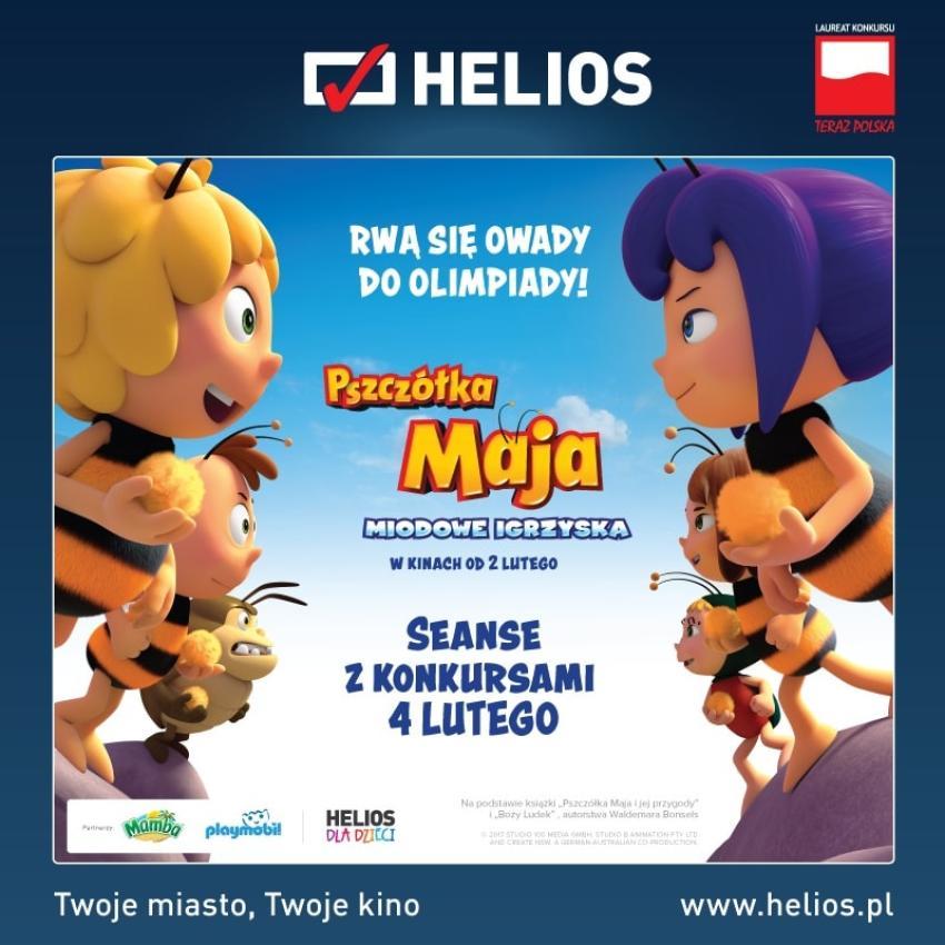 """""""Pszczółka Maja: Miodowe Igrzyska"""" –  Helios przygotował seanse z konkursami!"""