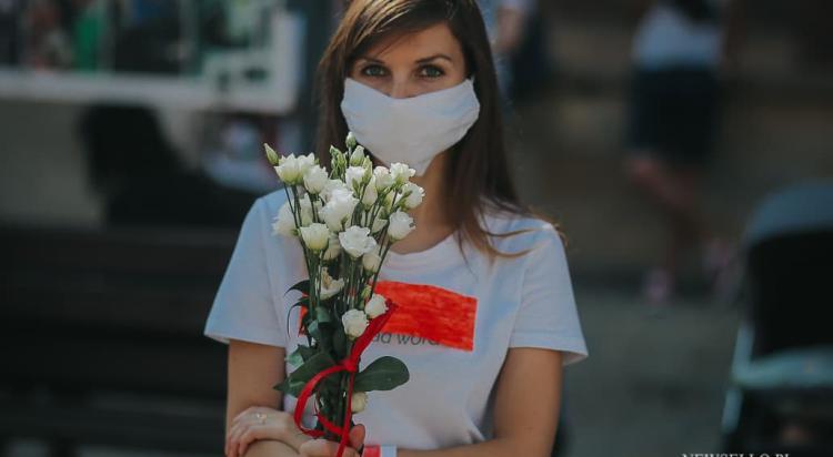 Solidarni z Białorusią - manifestacja we Wrocławiu