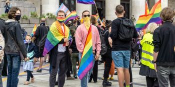 Protest przeciwko nienawiści wobec osób LGBT+