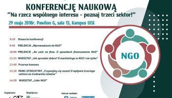 """""""Na rzecz wspólnego interesu – poznaj trzeci sektor"""" – konferencja na temat organizacji pozarządowych!"""