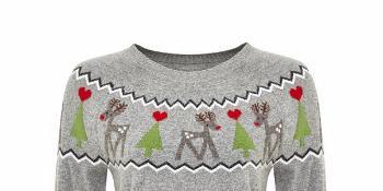 TK Maxx Szary świateczny sweter typu jumper 129.99 zł