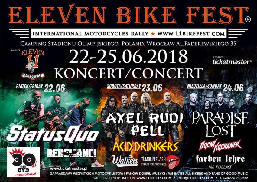 Eleven Bike Fest 2018 – wygraj podwójne zaproszenie!