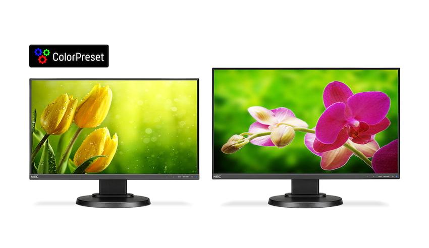 Monitory NEC w wersji Color Preset.