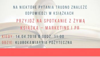"""""""Spotkanie z Żywą Książką"""" – kulisy marketingu i PR [fot. materiały prasowe]"""
