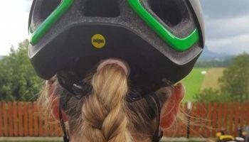 Katarzyna Solus-Miśkowicz radzi jak wybrać kask dla siebie i dla dziecka [fot. Katarzyna Solus-Miskowicz]