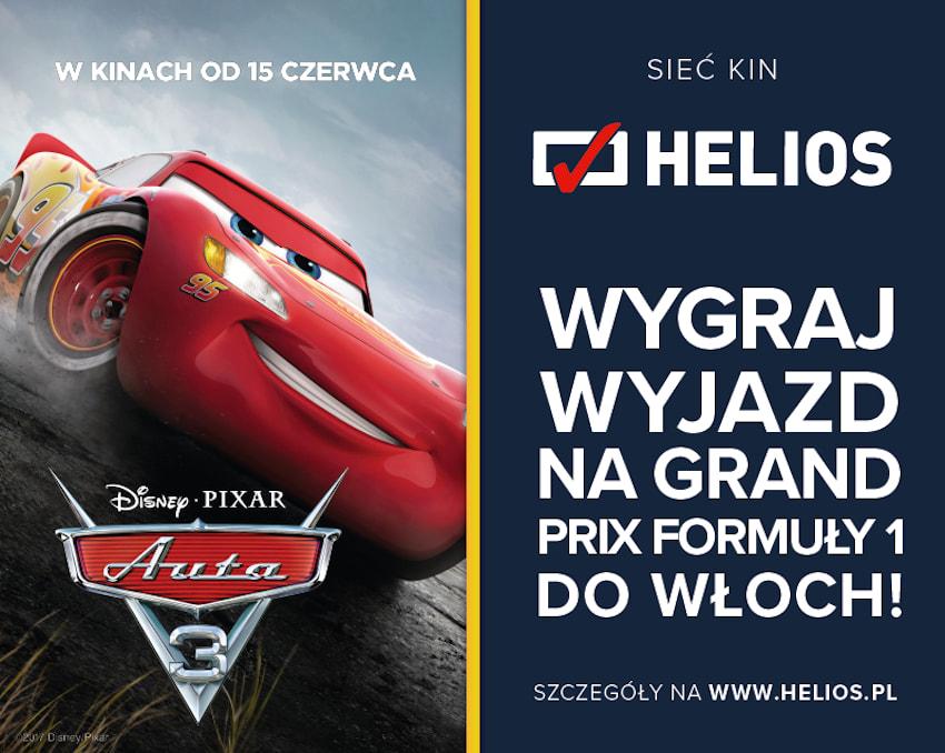 """Wyczekiwana premiera """"AUTA 3"""" i konkurs w kinach Helios!"""