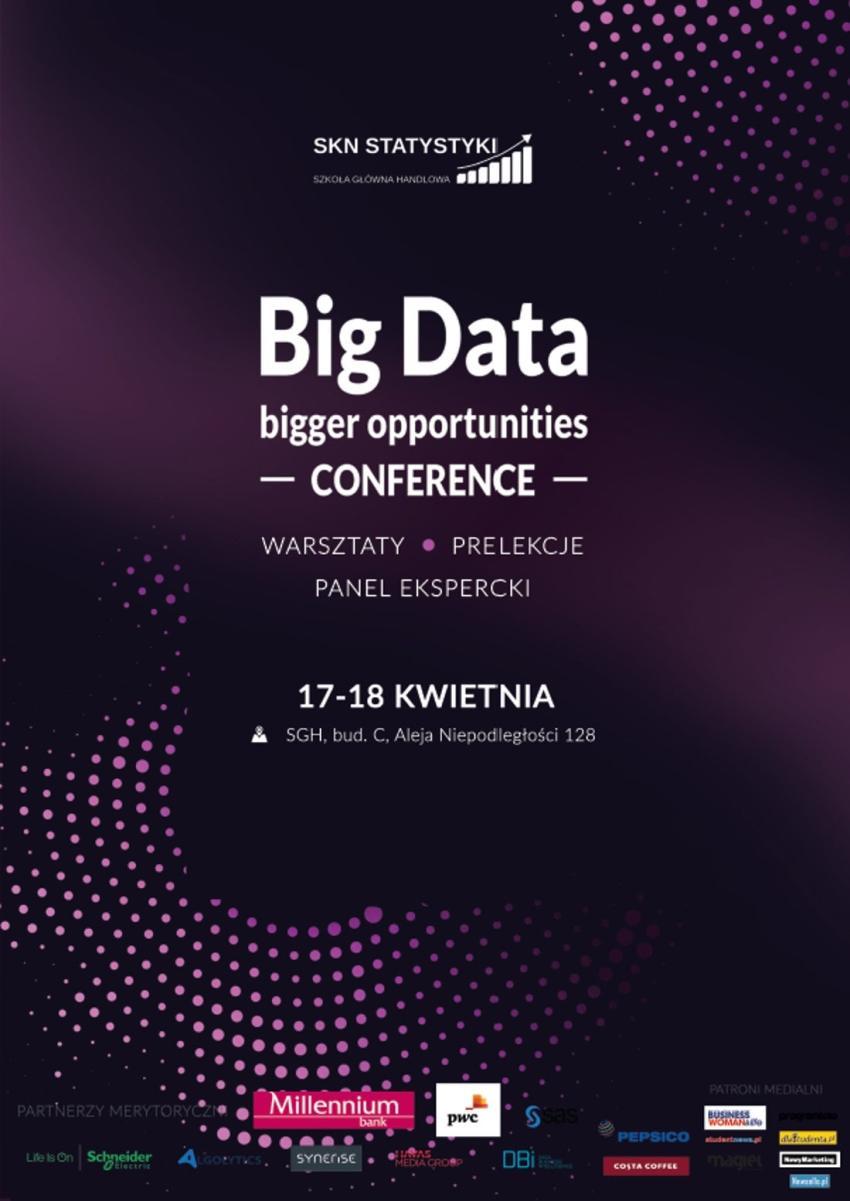 """""""Big Data – bigger opportunities"""" – konferencja która odkryje tajemnice wielkich zbiorów danych! [fot. materiały prasowe]"""