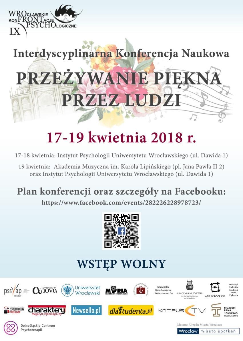 IX Wrocławskie Konfrontacje Psychologiczne i przeżywanie piękna przez ludzi [fot. materiały prasowe]