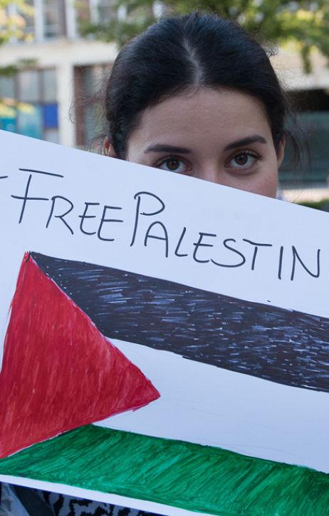 Poznań: Solidarnie z Palestyną - manifestacja w Poznaniu