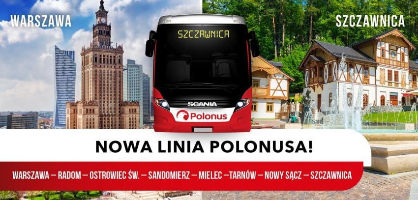 Nowa trasa Polonus – wygodny dojazd z Warszawy do Szczawnicy! [fot. materiały prasowe / Polonus]
