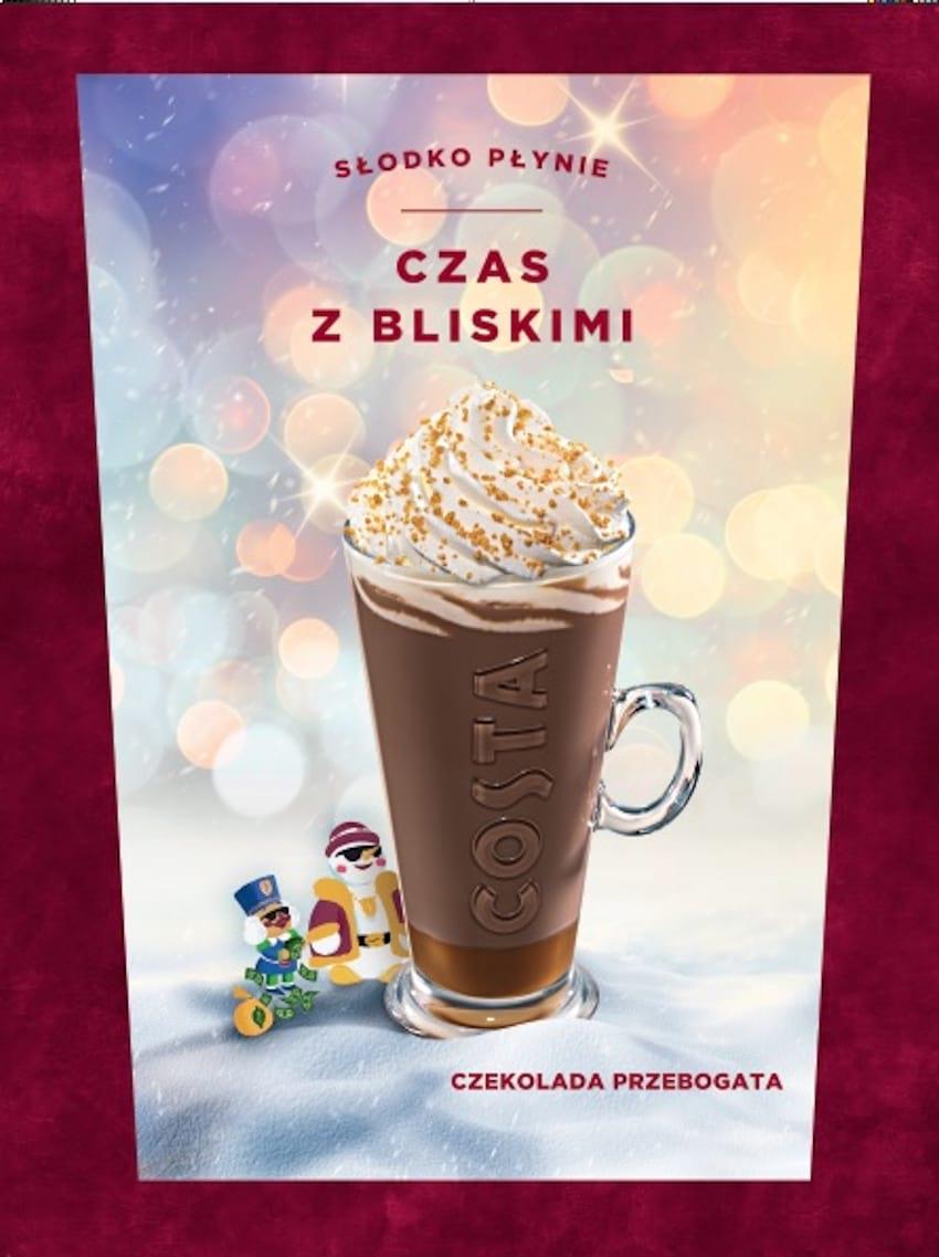 Czekolada Przebogata i Piernikowe Brownie - zimowe nowości w COSTA COFFEE