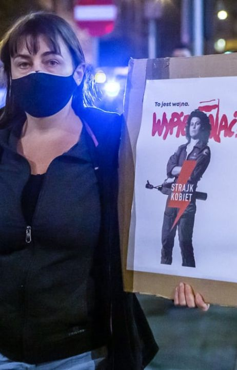 Warszawa: Strajk Kobiet - Blokada Warszawa
